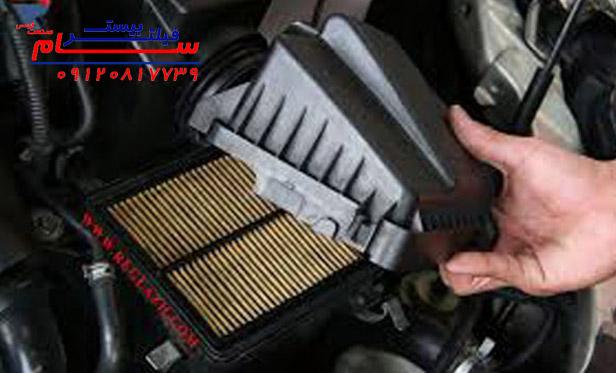 مراحل تعویض فیلتر هوا خودرو تویوتا هایس